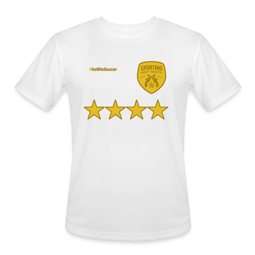 SFW All Star Tech Shirt (white & gold) - Men's Moisture Wicking Performance T-Shirt