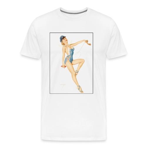 Custom 1953 USAF PinUp Girl T-Shirt - Men's Premium T-Shirt