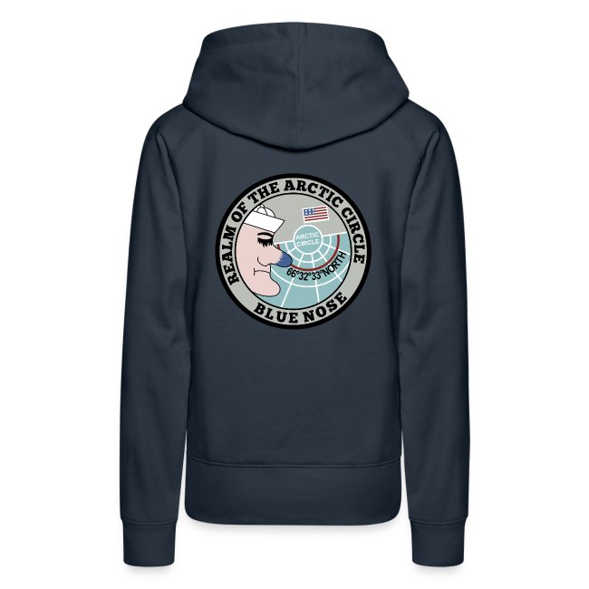 USS HARRY S TRUMAN 2018 BLUE NOSE HOODIE - WOMENS