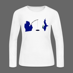 Best Friends Ice Fishing - Women's Long Sleeve Jersey T-Shirt