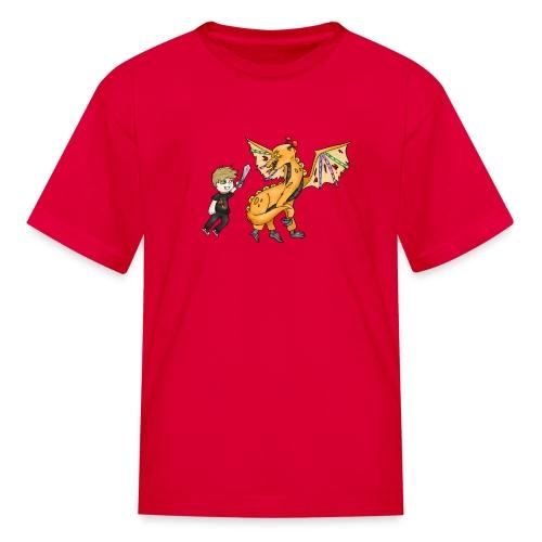 Kid's Arcade Warrior Dragon T-Shirt - Kids' T-Shirt