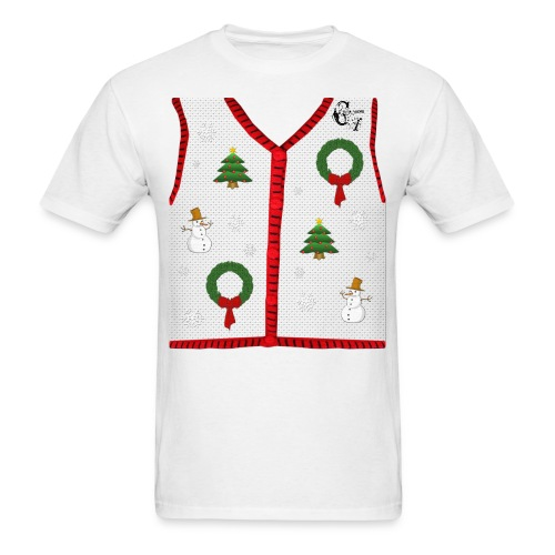 GV Christmas_ White T-shirt - Men's T-Shirt