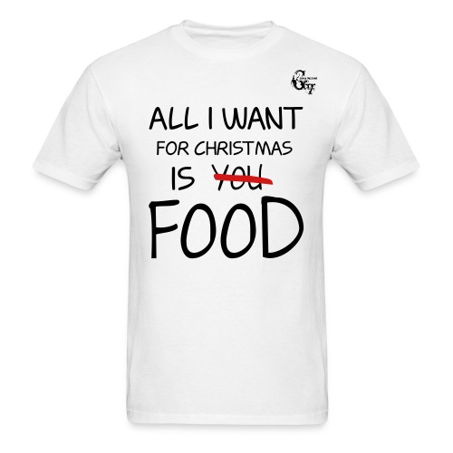 GV Christmas_Food White T-shirt - Men's T-Shirt