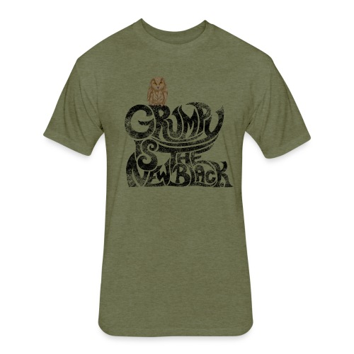 Grumpy is.... - Fitted Cotton/Poly T-Shirt by Next Level