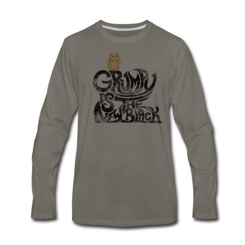 Grumpy is.... - Men's Premium Long Sleeve T-Shirt