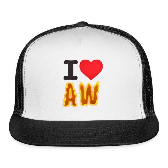a953c1bd5b87c I Love AW Trucker Hat
