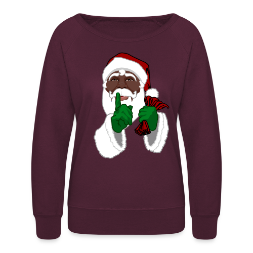 Santa Shirts Christmas Black Santa Sweatshirts  - Women's Crewneck Sweatshirt