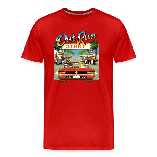 Out Run Video Game Shirt - Men's Premium T-Shirt