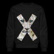 Long Sleeve Shirts ~ Crewneck Sweatshirt ~ SNOW LEOPARD - Crewneck