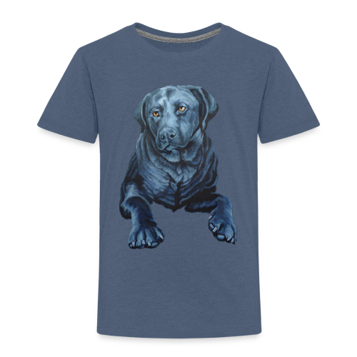 Black Lab T-shirt Toddler Blue Dog Art Shirts  - Toddler Premium T-Shirt
