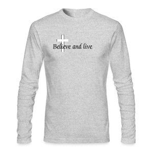Believe and live - Men's Long Sleeve T-Shirt by Next Level