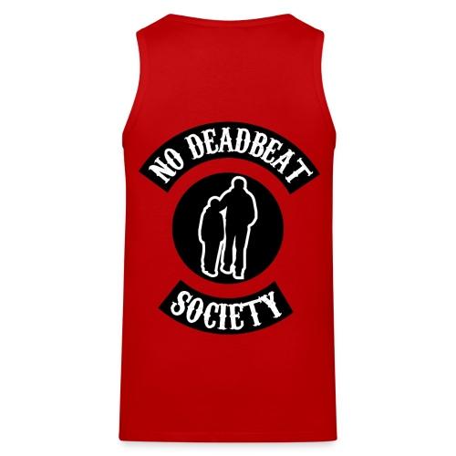 No Deadbeat Society Back Rocker (red) Men's Tank Top - Men's Premium Tank