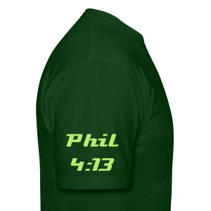 Phil 4:13 sleeve [sleeve & back] - Men's T-Shirt