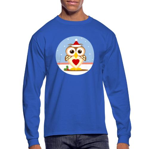 Santa Christmas Owl Men's L/S T-Shirt - Men's Long Sleeve T-Shirt
