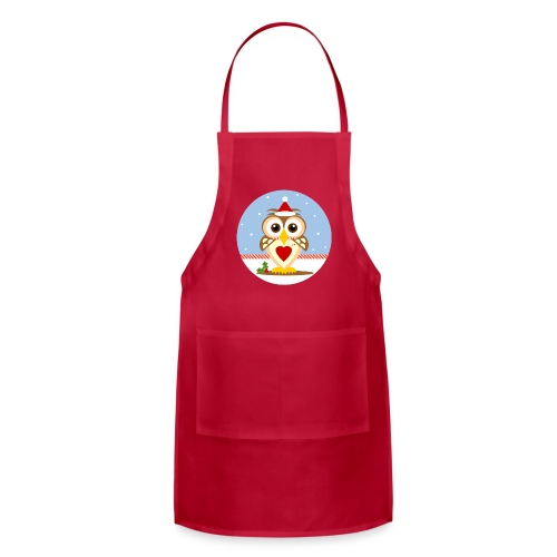 Santa Christmas Owl Adjustable Holiday Apron - Adjustable Apron