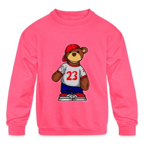 Young Bear Rockin 23 - Kids' Crewneck Sweatshirt