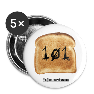 Toast Bread 101 Pins - Small Buttons
