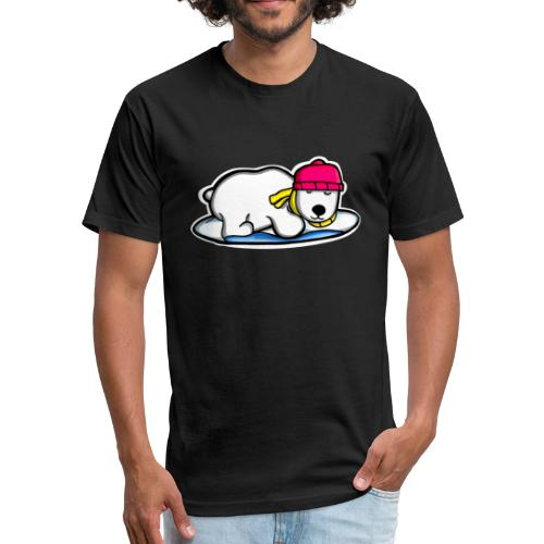Bear Icey Drip - Fitted Cotton/Poly T-Shirt by Next Level