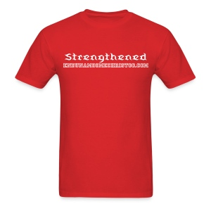 Be Strengthened [front & sleeve] - Men's T-Shirt