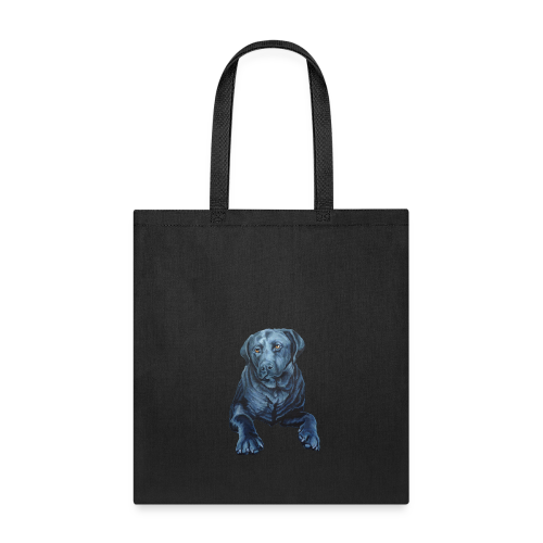 Black Lab Bags Blue Dog Art Tote Bags - Tote Bag
