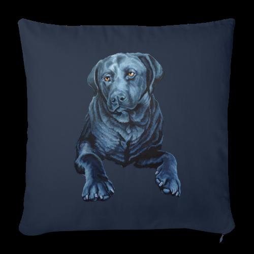 Black Lab Pillow Blue Dog Art Throw Pillows - Throw Pillow Cover