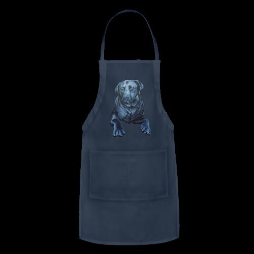 Black Lab Aprons Blue Dog Art Gifts  - Adjustable Apron
