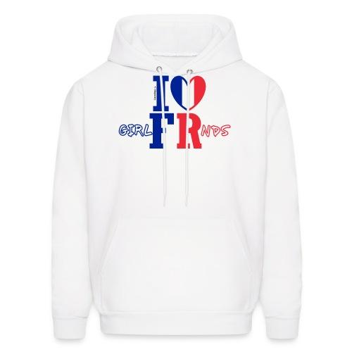 I ❤ French Girlfriends - Men's Hoodie