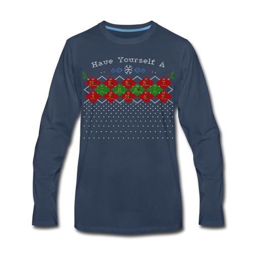Periodic Argyle of Elements - Merry Christmas - Men's Premium Long Sleeve T-Shirt