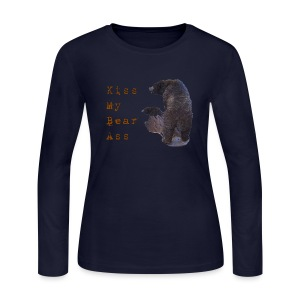 Kiss My Bear Ass - Women's Long Sleeve Jersey T-Shirt