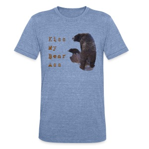 Kiss My Bear Ass - Unisex Tri-Blend T-Shirt