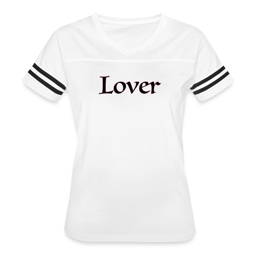 Lover/Fighter Women's Sports T-shirt White/Blk - Women's Vintage Sport T-Shirt