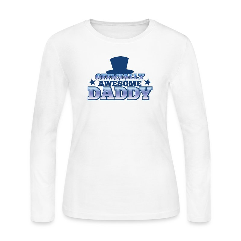 OFFICIALLY AWESOME DADDY with shoes bows cute! Long Sleeve ...