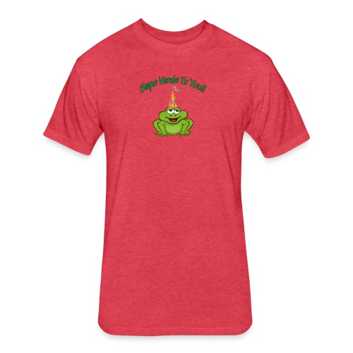 Sapo Verde Tu You - Fitted Cotton/Poly T-Shirt by Next Level