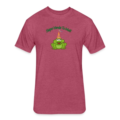Sapo Verde Tu Me - Fitted Cotton/Poly T-Shirt by Next Level