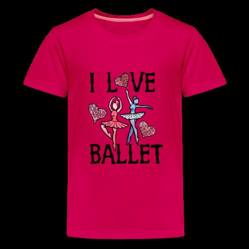 I Love Ballet - Kids' Premium T-Shirt