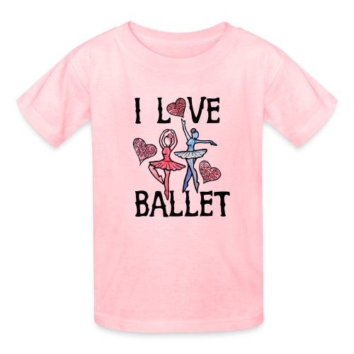 I Love Ballet - Kids' T-Shirt
