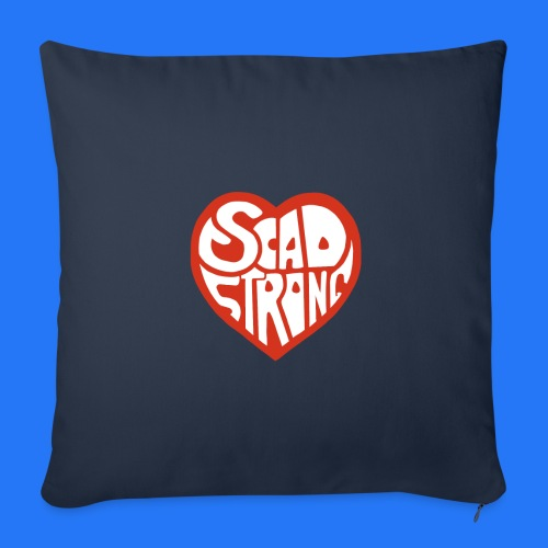 Throw Pillow Cover (new design - SCAd strong) - Throw Pillow Cover