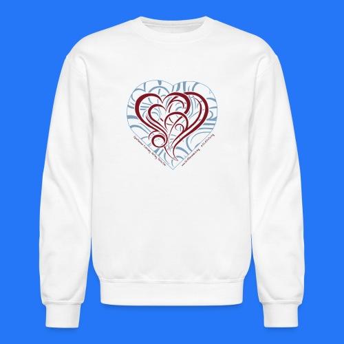 Crewneck Sweatshirt (new design - curly heart) - Crewneck Sweatshirt