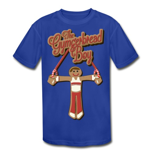 The Gymgerbread Boy - Kids' Performance Tee - Kids' Moisture Wicking Performance T-Shirt