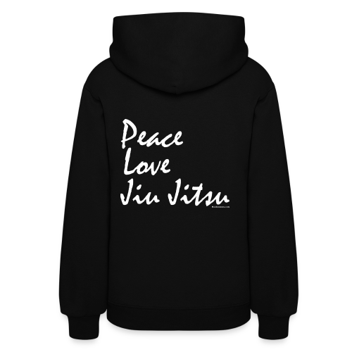 Peace Love Jiu Jitsu - Womens Hoodie - wb  - Back - Women's Hoodie