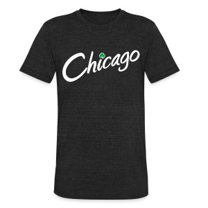 Chicago with a Shamrock - Unisex Tri-Blend T-Shirt by American Apparel