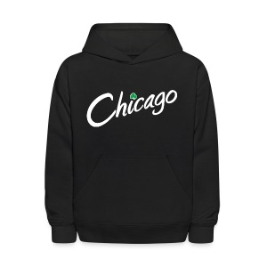 Chicago with a Shamrock - Kids' Hoodie