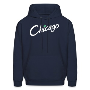 Chicago with a Shamrock - Men's Hoodie