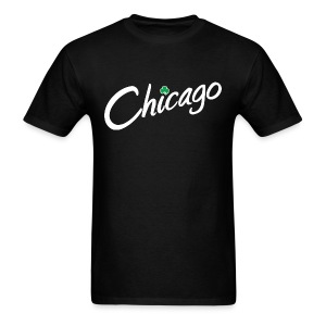 Chicago with a Shamrock - Men's T-Shirt