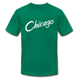 Chicago with a Shamrock - Men's T-Shirt by American Apparel