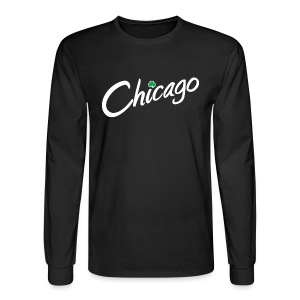 Chicago with a Shamrock - Men's Long Sleeve T-Shirt