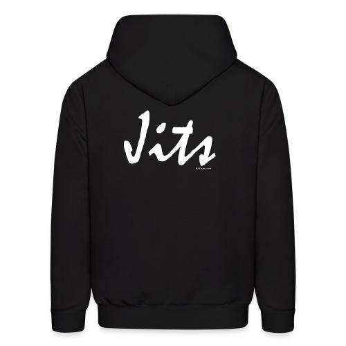 Jiu Jitsu - Jits Mens Hoodie - wb - Back - Men's Hoodie