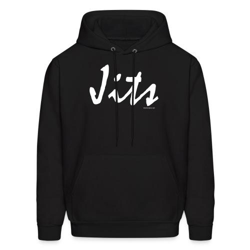 Jiu Jitsu - Jits Mens Hoodie - wb - Front - Men's Hoodie