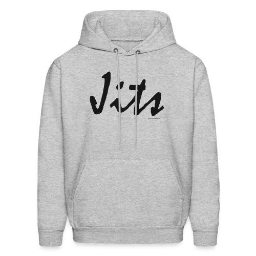Jiu Jitsu - Jits Mens Hoodie - bw - Front - Men's Hoodie