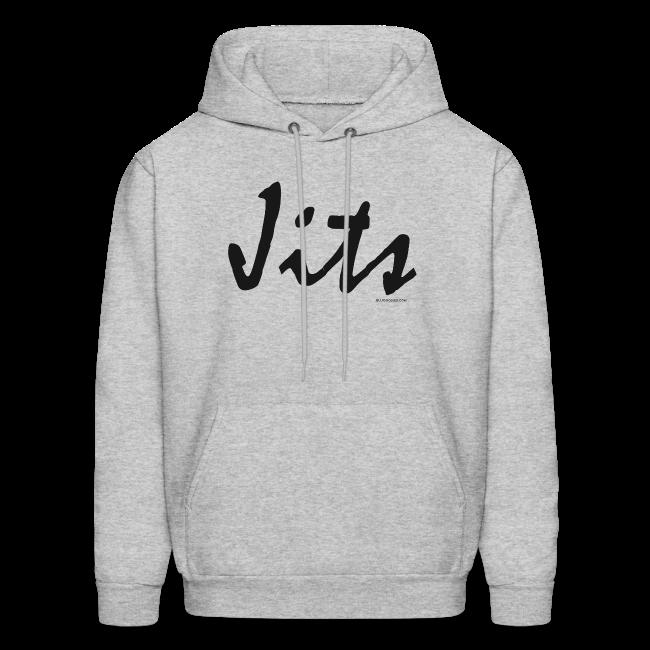Jiu Jitsu - Jits Mens Hoodie - bw - Front